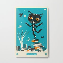 TAROT CARD CAT: THE FOOL Metal Print