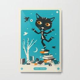 TAROT CARD CAT: THE FOOL Metal Print