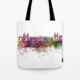 Dijon skyline in watercolor background Tote Bag