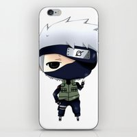 chibi iPhone & iPod Skins featuring Kakashi Chibi by Lyre Aloise