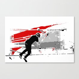 Spinning the Deck - Tail-whip Scooter Stunt Canvas Print