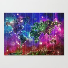 world map mandala space Canvas Print