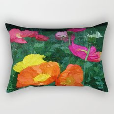 Poppies Two Rectangular Pillow