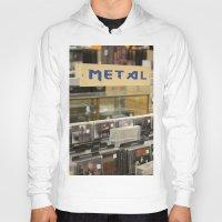 metal Hoodies featuring Metal by Bingz