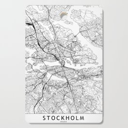 Stockholm White Map Cutting Board