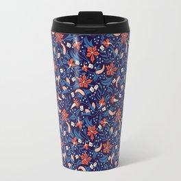Moonlit Jungle Floral Travel Mug
