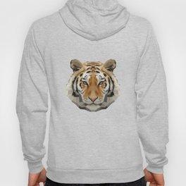 Geometrical Tiger Head Silhouette Hoody