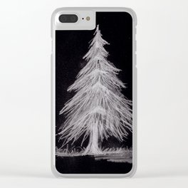 Inverted Pine Trees Clear iPhone Case