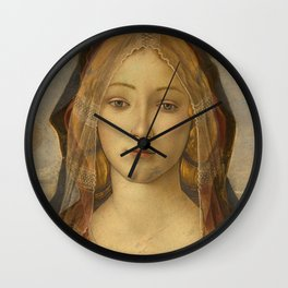"""Sandro Botticelli """"The Virgin and Child with Saint John and an Angel"""" The Virgin Wall Clock"""