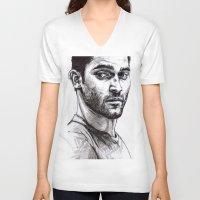 derek hale V-neck T-shirts featuring TEEN WOLF - Derek Hale by Sara (aka Wisney)