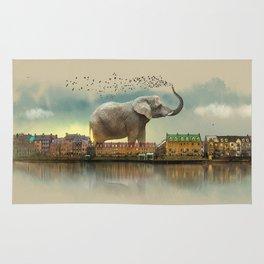 Travelling elephant Rug