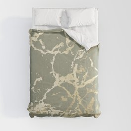 Kintsugi Ceramic Gold on Green Tea Comforters