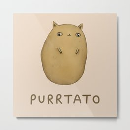 Purrtato Metal Print