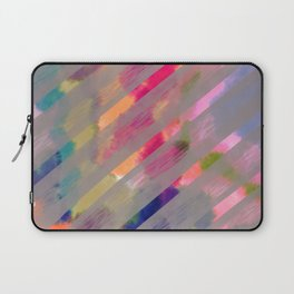 Ribbon Party - Gray and Rainbow Stripe Palette Laptop Sleeve