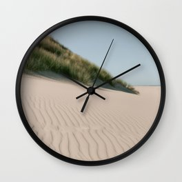 Sand waves on the beach    Minimalistic travel photography with a summer, calm and tropical feeling Wall Clock