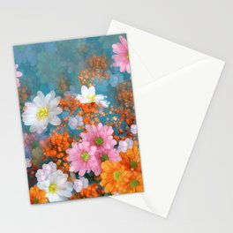 Flowers Sparkling Daydream Stationery Cards