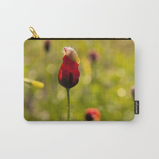 Poppy Flower Floral Blossom  in a field Carry-All Pouch