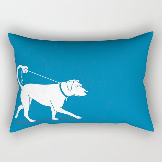 No Worries, I'll Just Walk Myself Rectangular Pillow