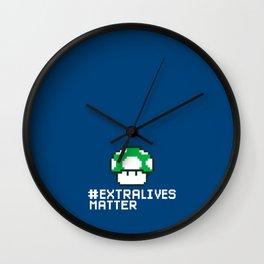 #Extra Lives Matter Wall Clock