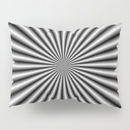 32 Rays in Black and White Pillow Sham