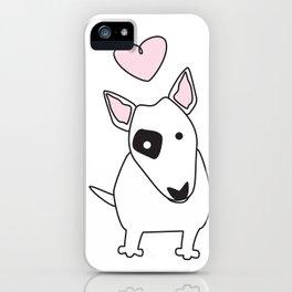 Bullterrier Love iPhone Case
