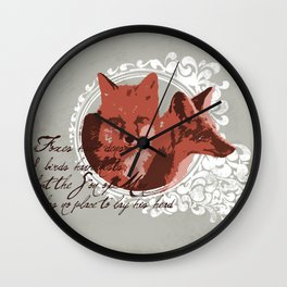 Foxes Have Dens Wall Clock