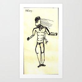 A visible and invincible man. Art Print