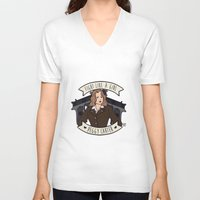 peggy carter V-neck T-shirts featuring Fight Like a Girl - Peggy Carter by Kaol