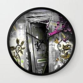 PLAKA - DOOR no2a Wall Clock