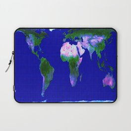World Map : Gall Peters Laptop Sleeve