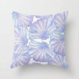 Shell Ya Later - Purple Seashell Pattern Throw Pillow