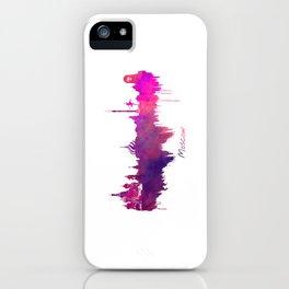 Skyline Moscow purple iPhone Case