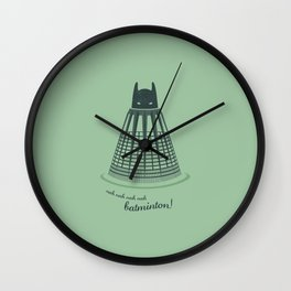 Batminton Wall Clock