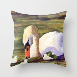 Calm of swan   Le calme du cygne Throw Pillow
