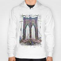 brooklyn bridge Hoodies featuring brooklyn bridge by Vector Art
