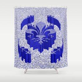 Florentine Blue Garden Shower Curtain