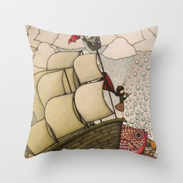 your chances are 50/50 Throw Pillow