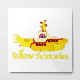 The Rock - Yellow Submarine Metal Print