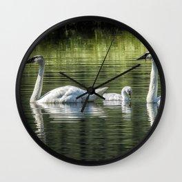 Family of Swans, No. 2 Wall Clock