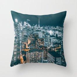 Toronto by night - City at night Throw Pillow