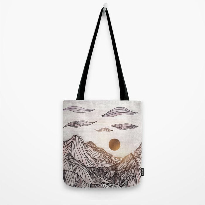 Lines in the mountains Tote Bag