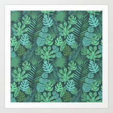 Tropical plantation Art Print