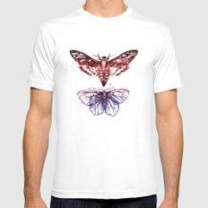 Moths Mens Fitted Tee White MEDIUM