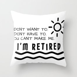 Retirement Gifts Funny For Men Women Husband Dad Mom Throw Pillow