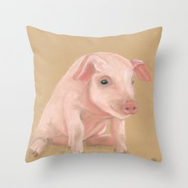 Lil Pete from Longbottom Farm Throw Pillow