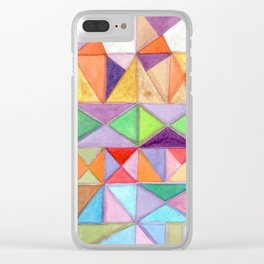 Fresh and Warm Triangle Pattern Clear iPhone Case
