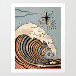 Ride your own wave Art Print