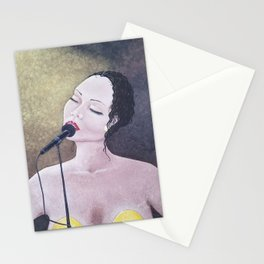 The Moment, Singing Woman Painting, by Faye Stationery Cards