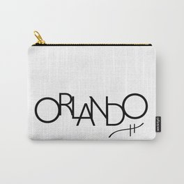 Orlando - Compressed City Beautiful - Word Art Carry-All Pouch