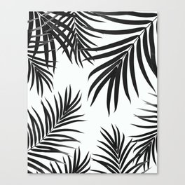 Palm Leaves Pattern Summer Vibes #2 #tropical #decor #art #society6 Canvas Print